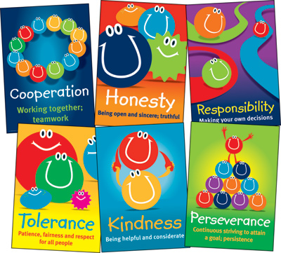 Values Posters Set Of 6