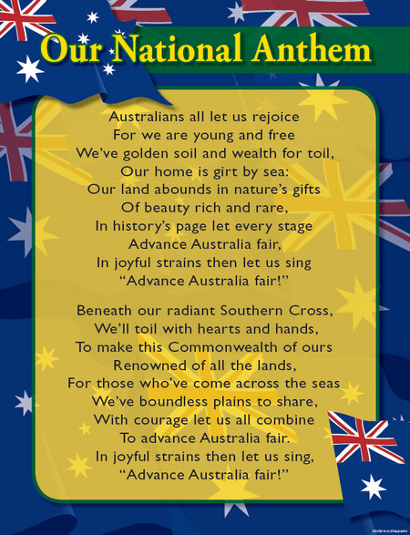 National Anthem Orchestra - Australia Anthem Text Lyrics ...