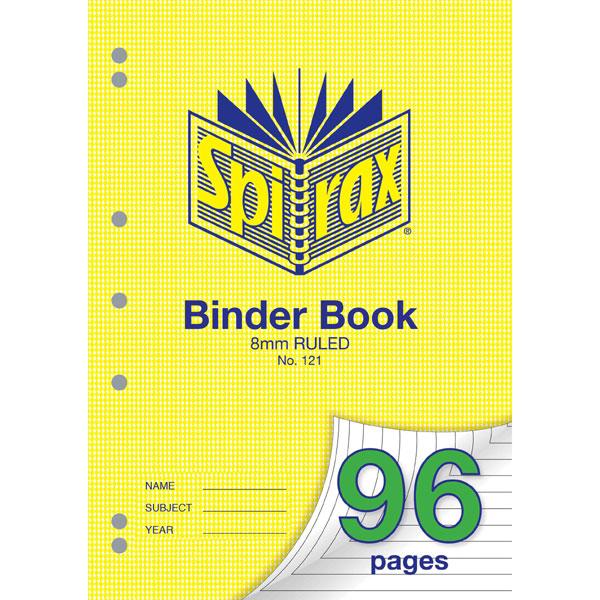 Binder Book Spirax A4 96 Page 8mm