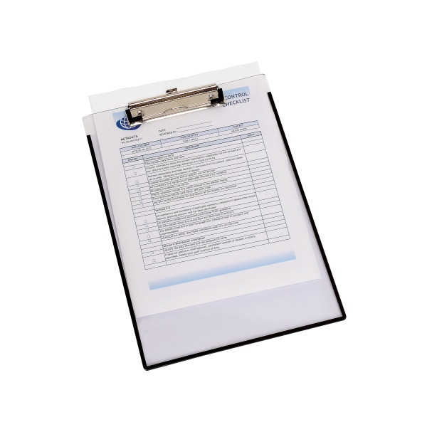 clipboard a4 clearview with insert cover ziggies educational supplies