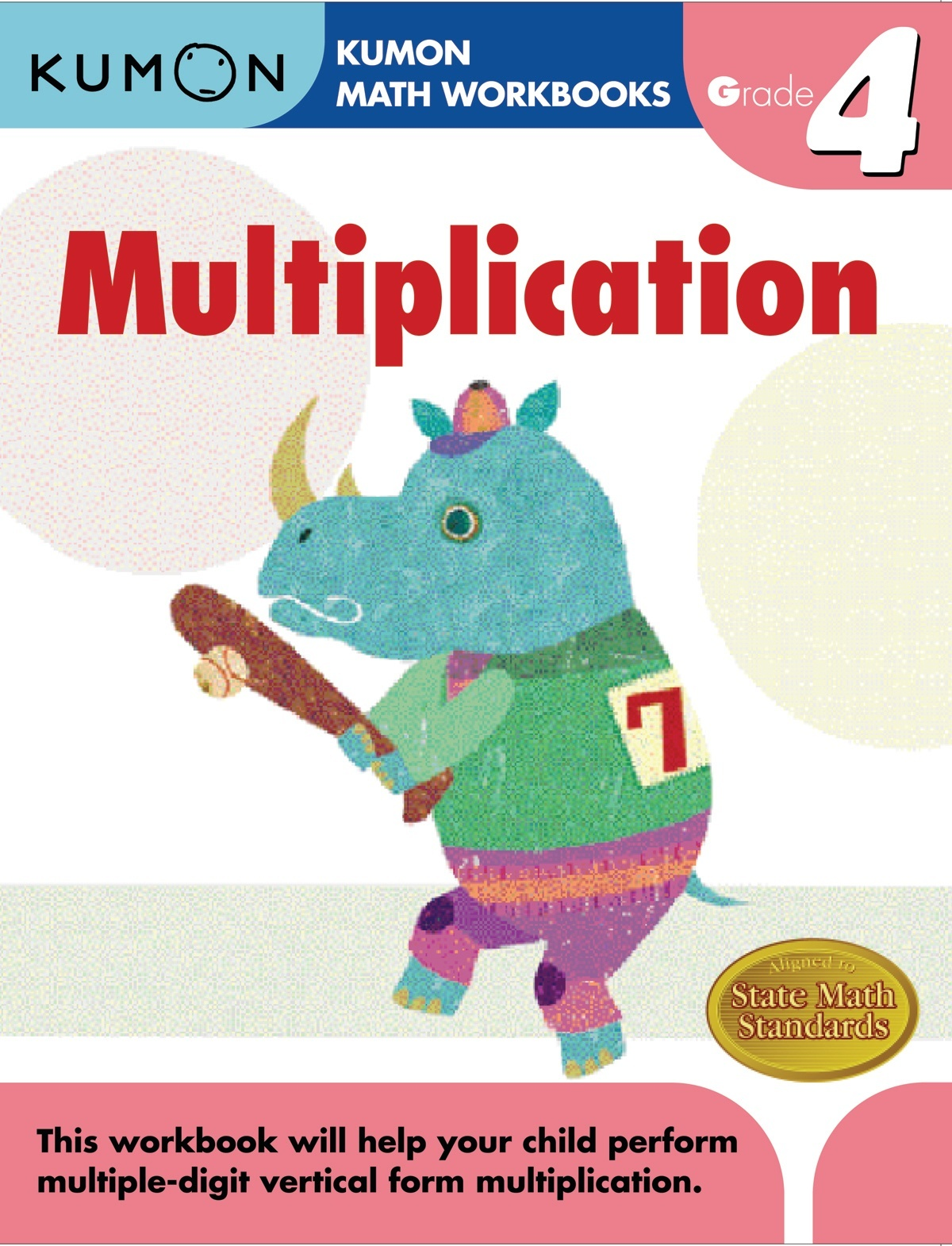 Kumon Multiplication Grade 4 - Ziggies Educational Supplies