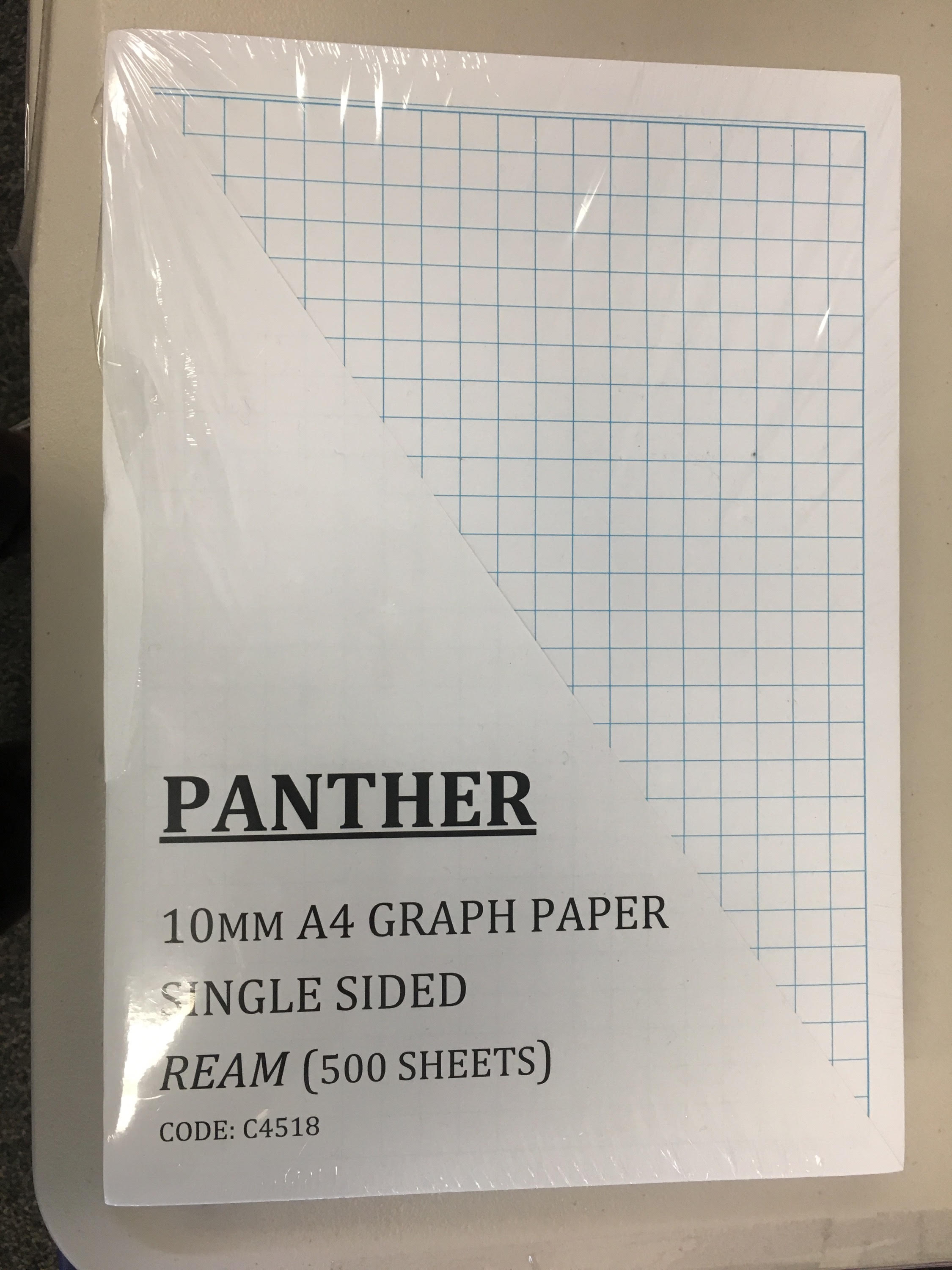 paper graph a4 10mm grid double sided ream 500